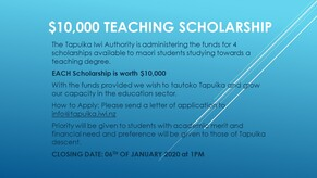 SPECIAL NOTICE - $10k Teaching Scholarships